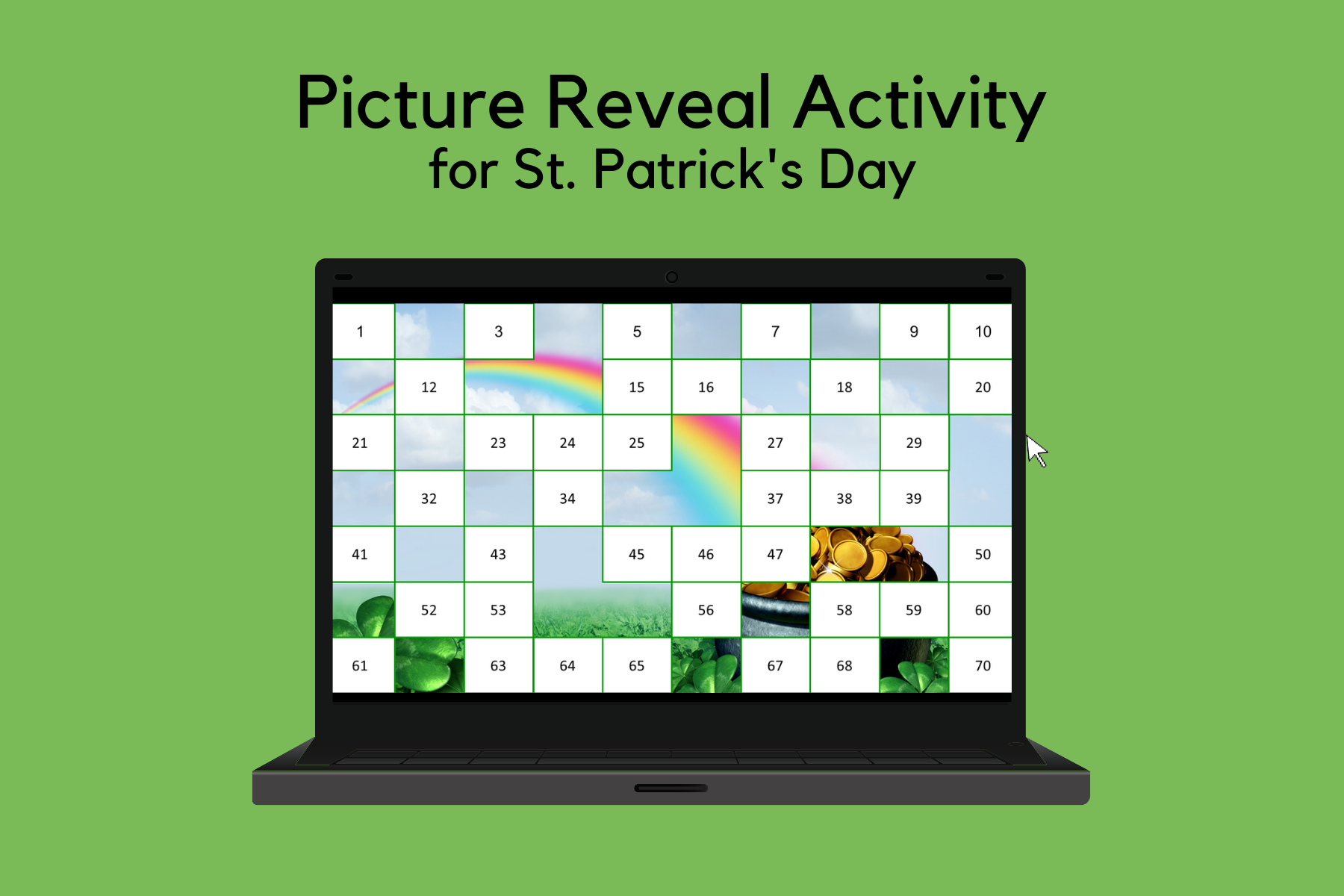 Picture Reveal Reinforcement Activity for St. Patrick's Day