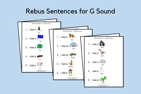 Rebus Sentences for G Sound