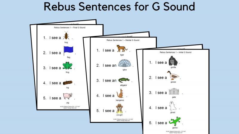 Rebus Sentences For G Sound