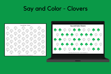 Say and Color - Clovers