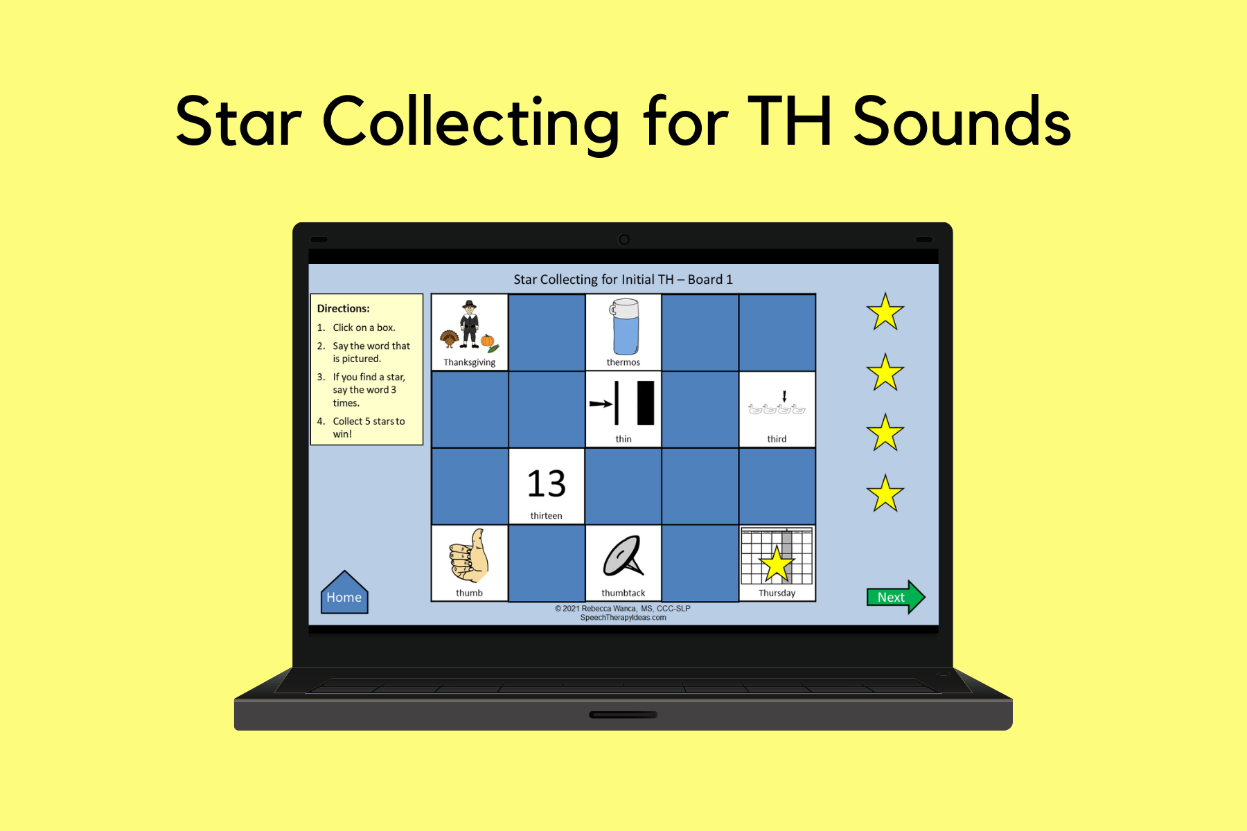 Star Collecting for TH Sounds