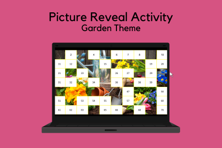 Picture Reveal Activity - Garden Theme