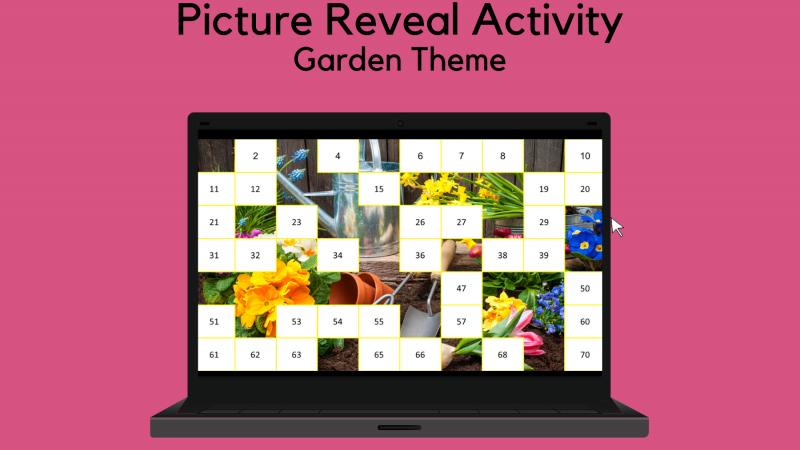 Picture Reveal Activity – Garden Theme