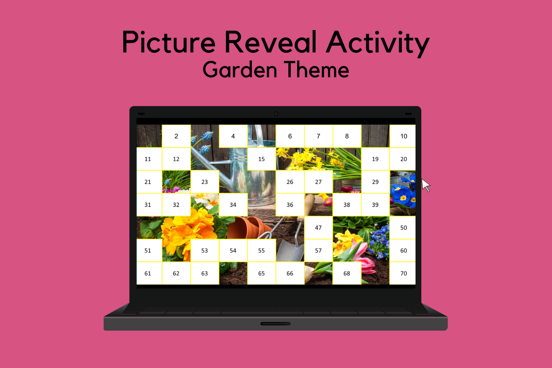 Picture Reveal Activity – Garden Theme