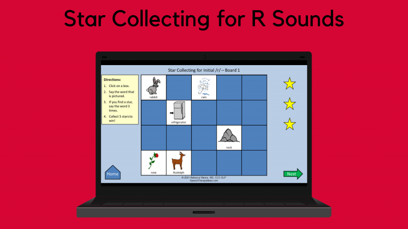 Star Collecting For R Sounds