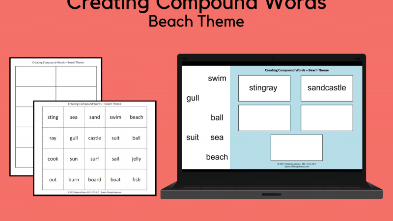 Creating Compound Words – Beach Theme