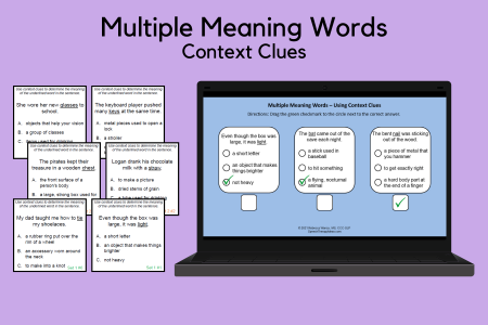 Multiple Meaning Words - Context Clues