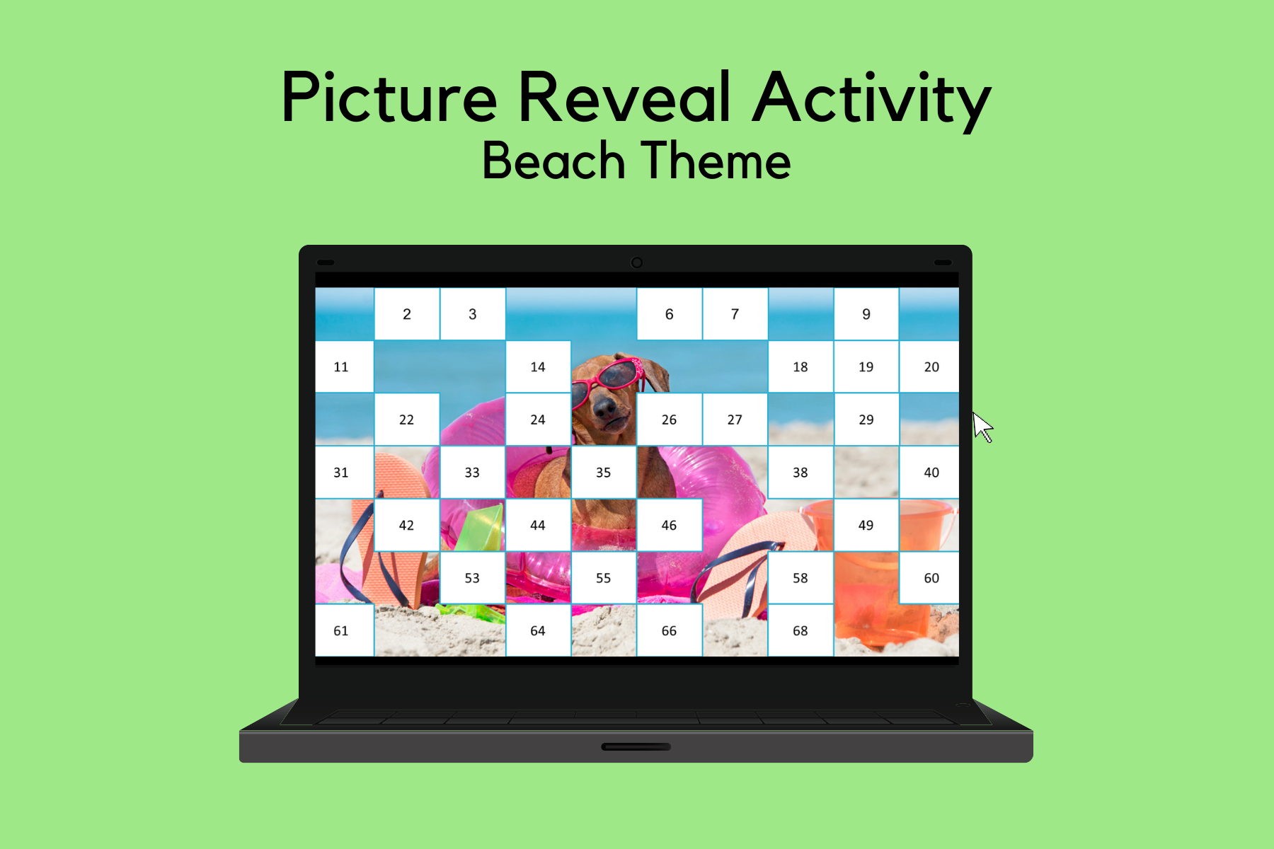 Picture Reveal Activity – Beach Theme