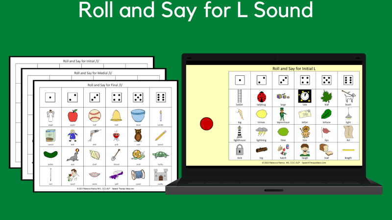 Roll And Say For L Sound