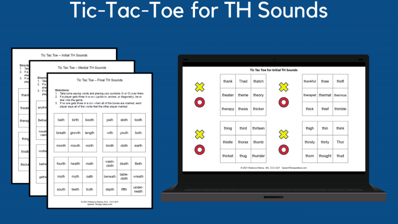 Tic Tac Toe For TH Sounds