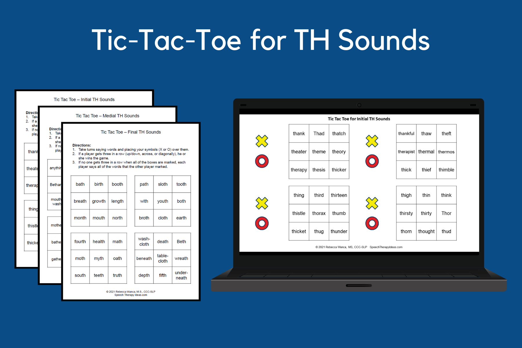 Tic-Tac-Toe Games For TH Sounds