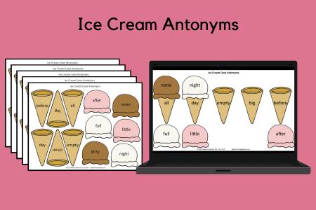 Ice Cream Antonyms
