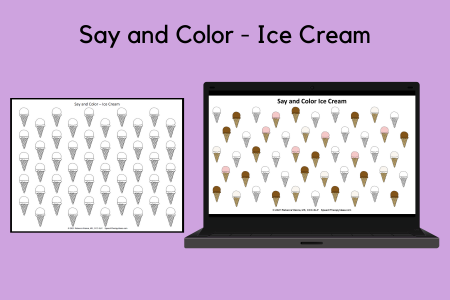 Say and Color - Ice Cream