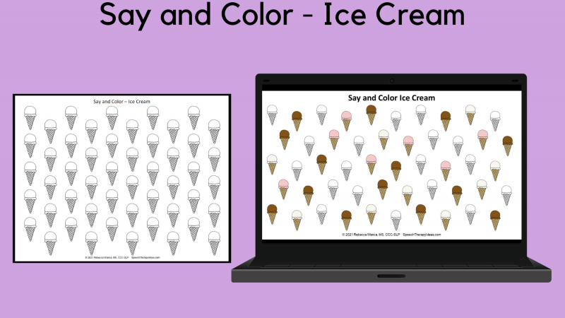 Say And Color – Ice Cream