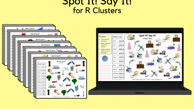 Spot It! Say It! For R Clusters