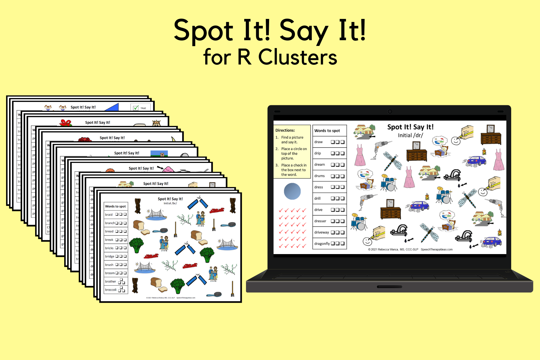 Spot It! Say It! Pages For R Clusters