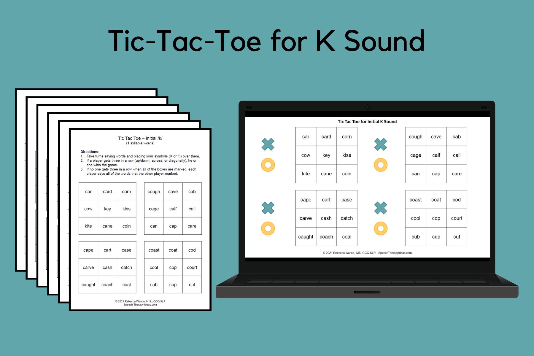 Tic-Tac-Toe Games for K Sound