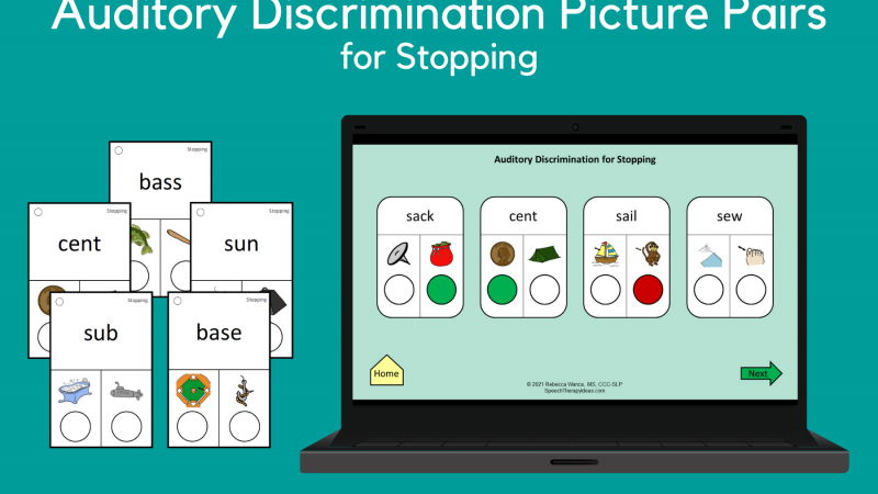 Auditory Discrimination Picture Pairs For Stopping
