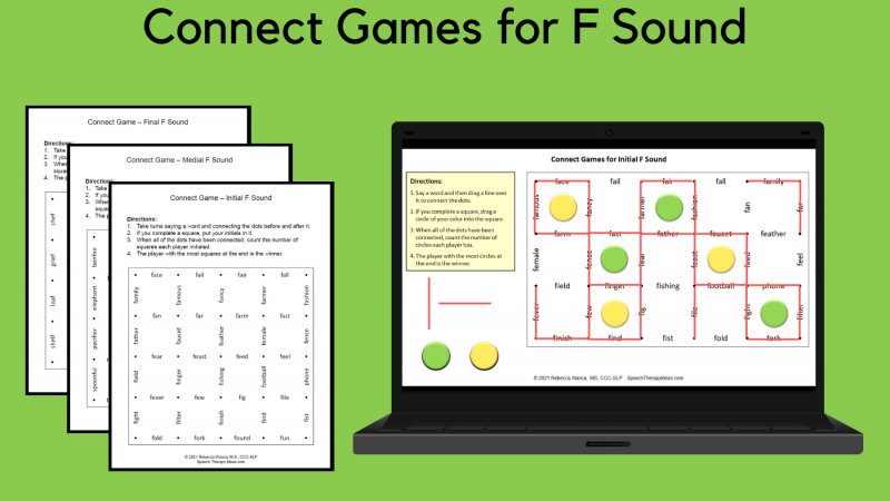 Connect Games For F Sound