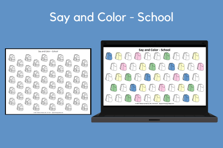 Say and Color - School