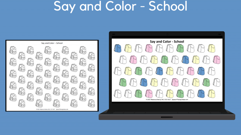 Say And Color – School