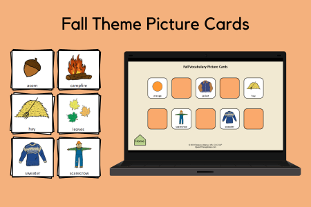 Fall Theme Picture Cards