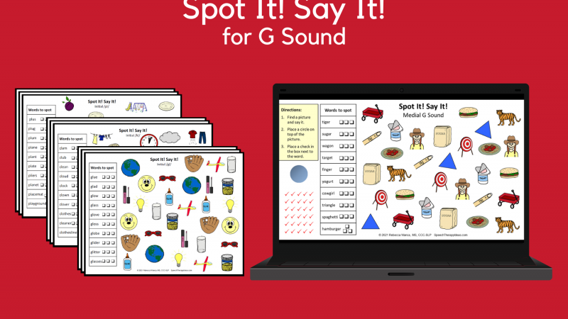 Spot It! Say It! For G Sound