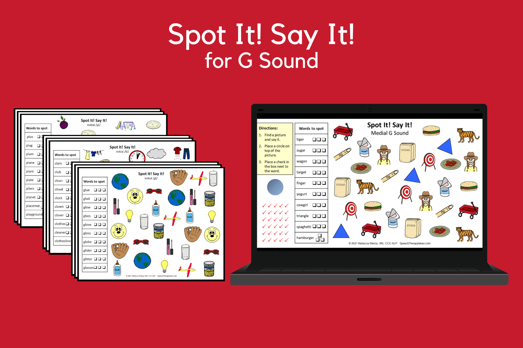 Spot It! Say It! Pages For G Sound